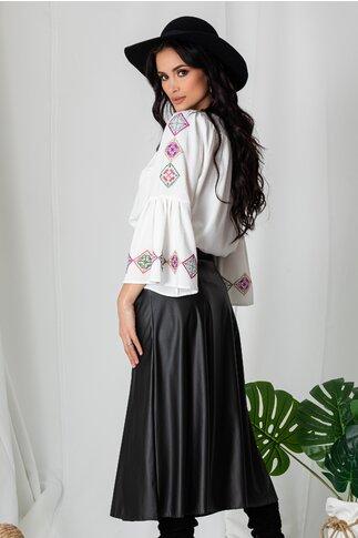 Bluza Lucia alba cu broderie traditionala