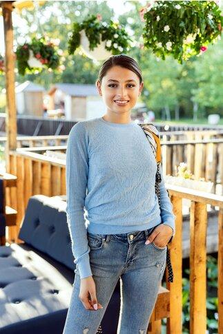 Bluza Mari bleu din tricot