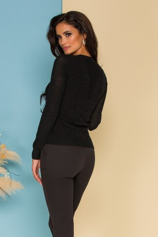 Bluza Mari neagra din tricot