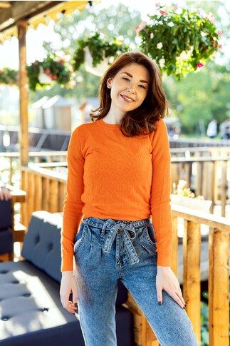 Bluza Mari orange din tricot