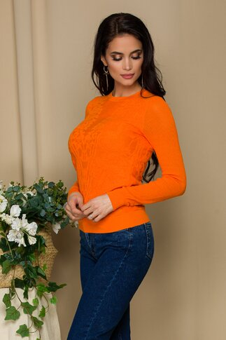 Bluza Mari orange din tricot