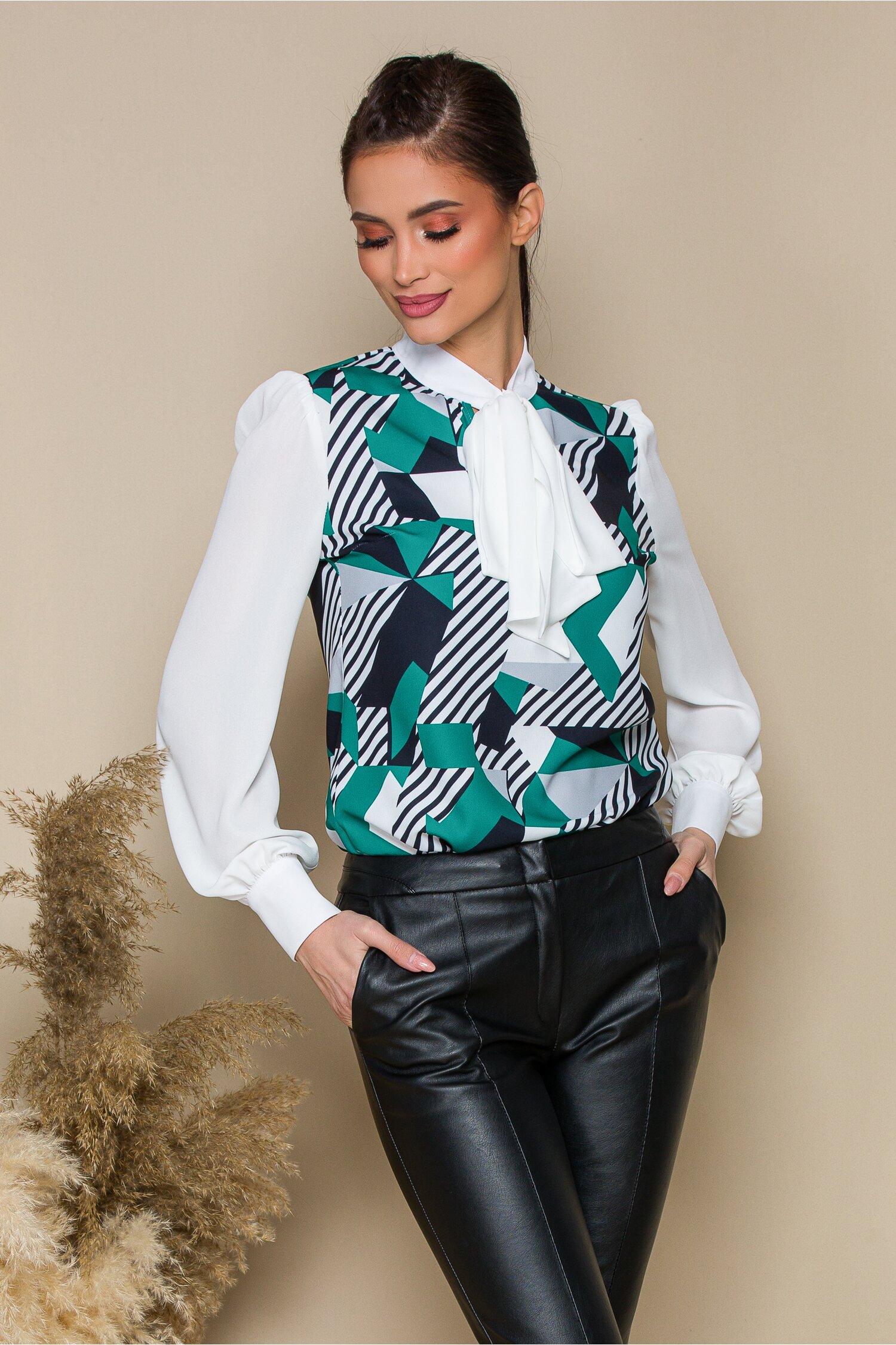 Bluza MBG cu imprimeu turcoaz