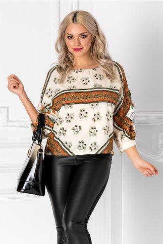Bluza Mikky ivoire cu imprimeu floral