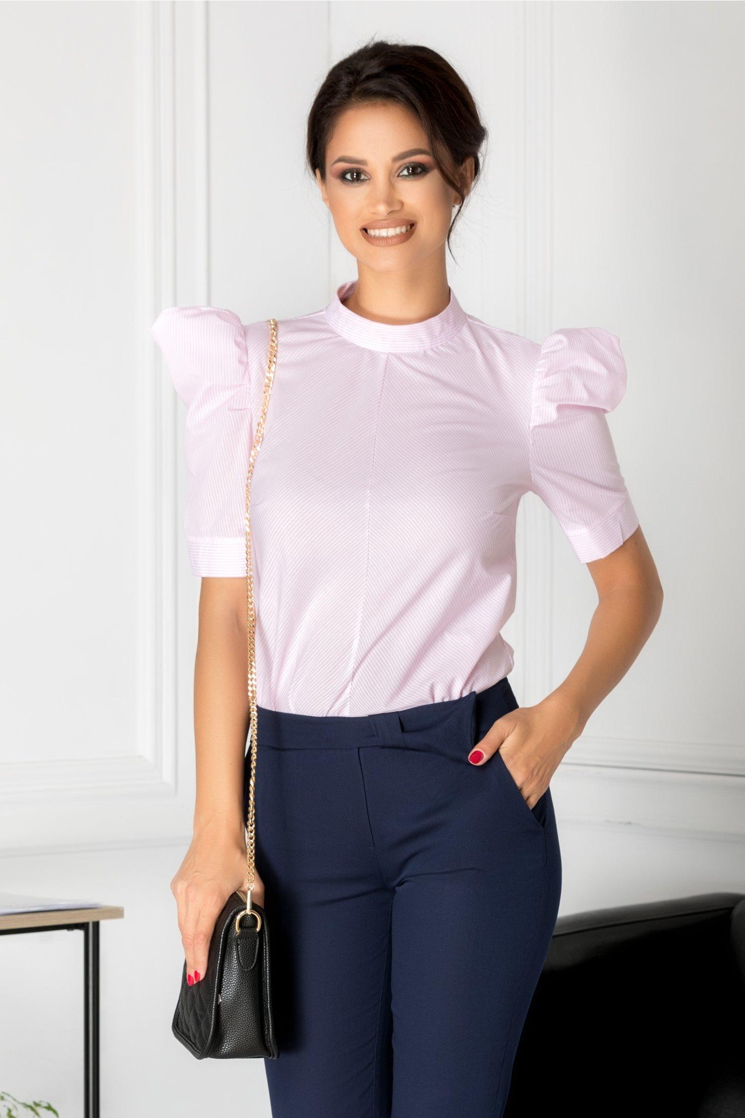 Bluza Miru cu dungi roz si albe