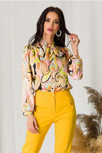 Bluza Moze cu imprimeuri in nuante pastelate