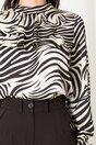 Bluza Moze cu zebra print alb negru