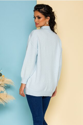 Bluza Nadia lunga tricotata bleu