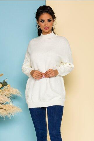 Bluza Nadia lunga tricotata ivoire