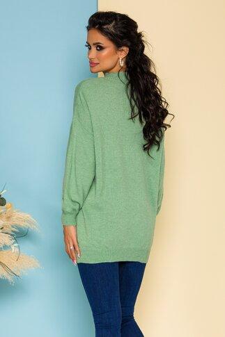 Bluza Nadia lunga tricotata vernil