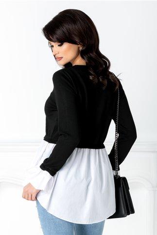 Bluza negru cu alb casual