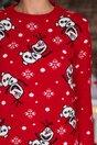Bluza Olaf rosie cu imprimeu de iarna