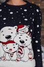 Bluza Polar Bear bleumarin cu imprimeu de iarna