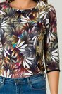 Bluza Rona gri cu flori
