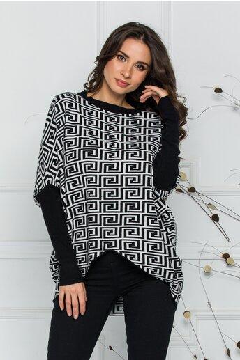Bluza Rux alba cu imprimeu labirint