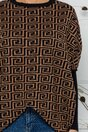 Bluza Rux bej cu imprimeu labirint