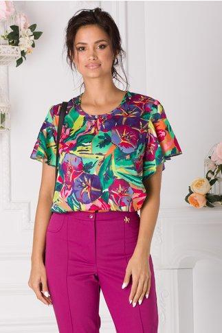 Bluza Sorina vaporoasa multicolora