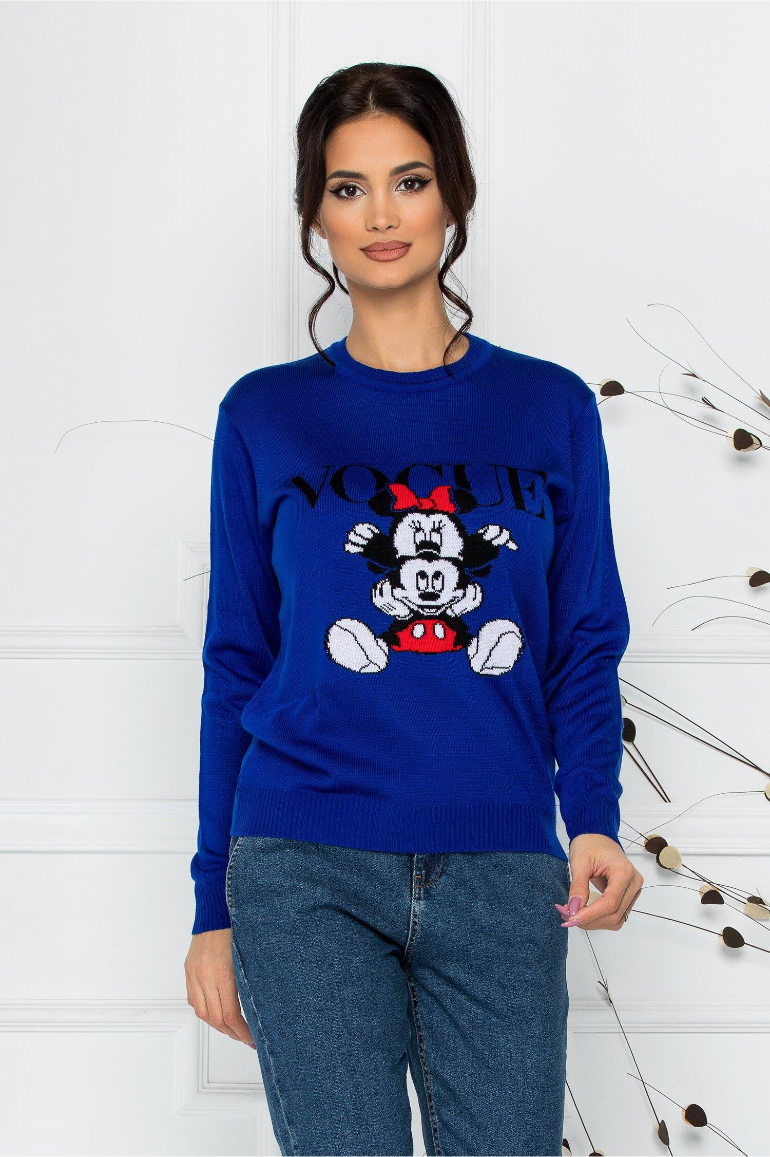 Bluza Vogue albastra cu imprimeu Disney