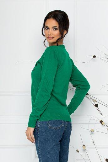 Bluza Vogue verde cu imprimeu Disney