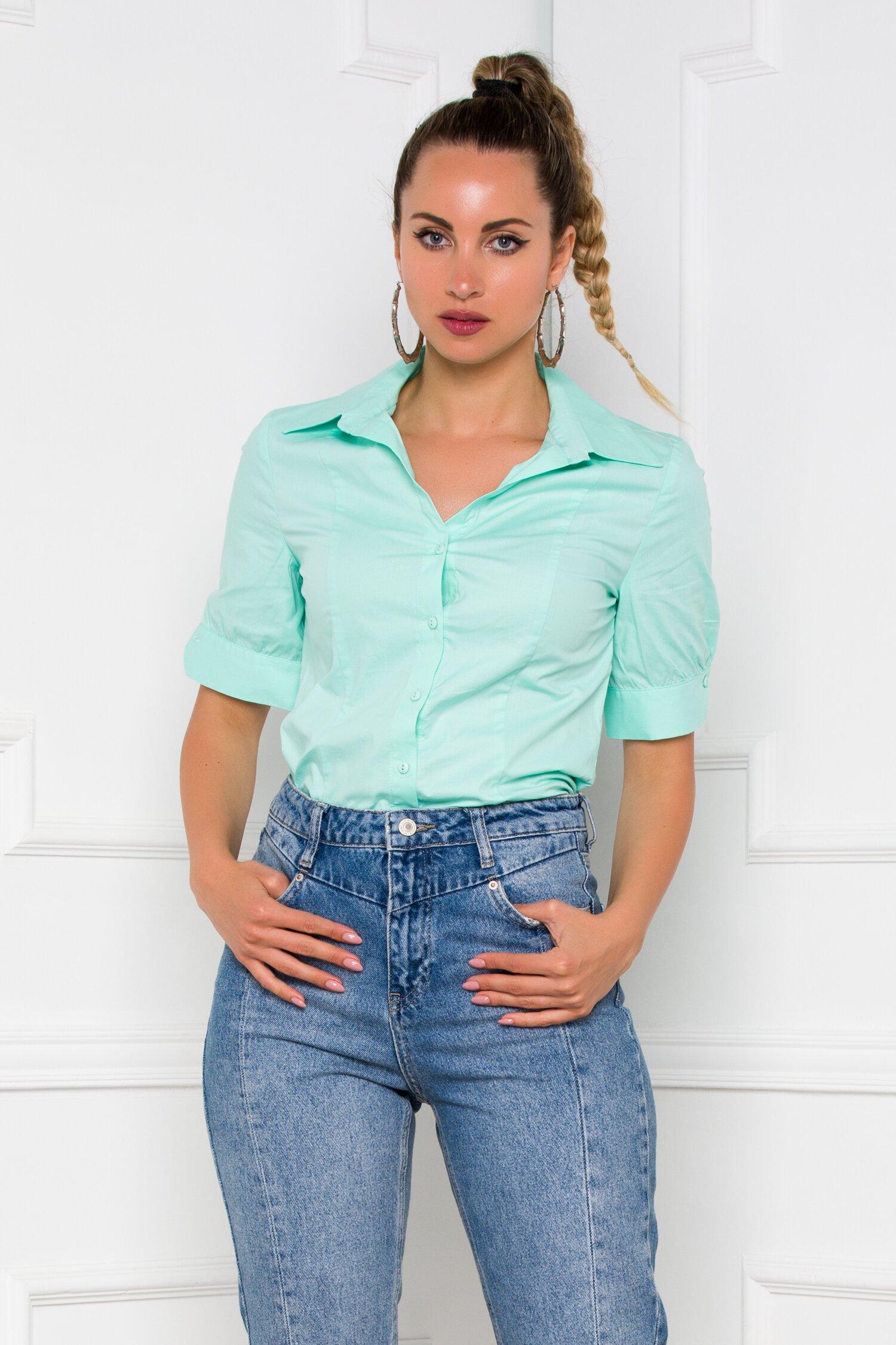 Camasa Cateline verde mint