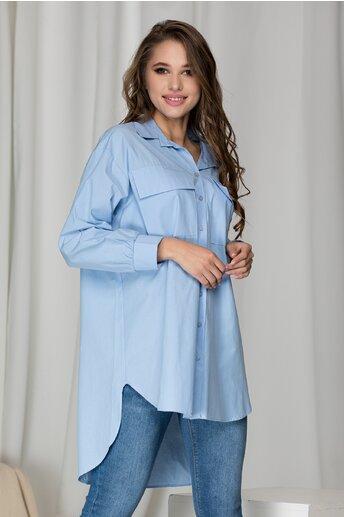 Camasa Layla bleu supradimensionata