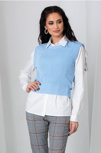 Camasa Mari cu vesta bleu