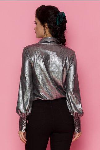 Camasa Shine argintie din fir lurex