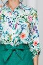Camasa Sima alba cu imprimeu floral