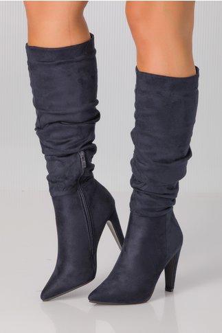 Cizme Tania bleumarin lungi