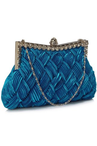Clutch Crystal albastru royal