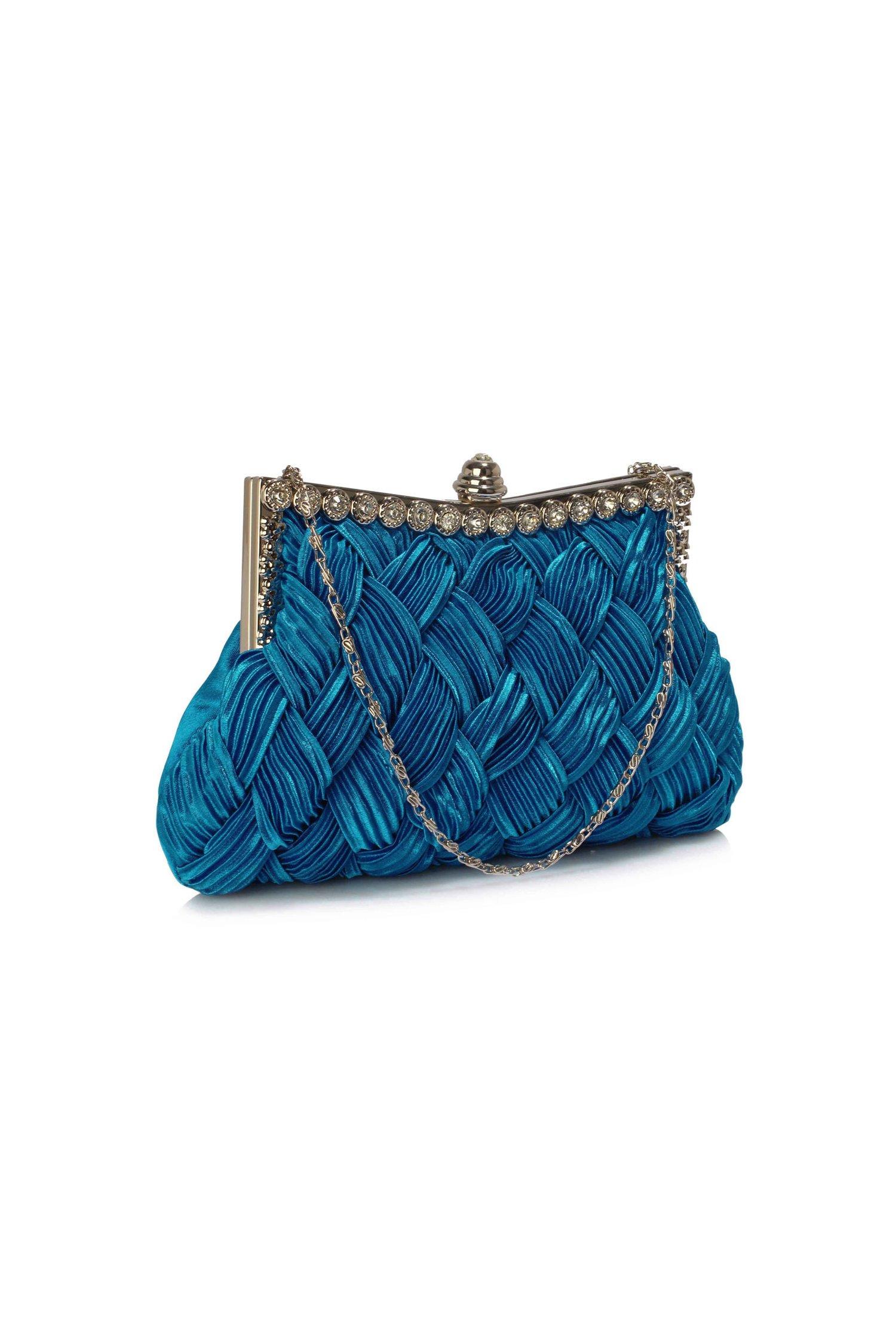 Clutch Crystal albastru royal