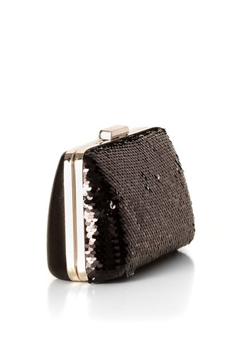 Clutch negru cu paiete reversibile