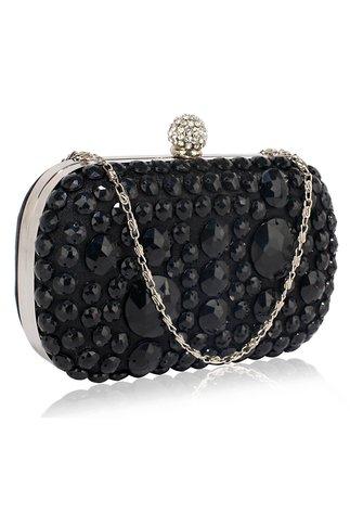 Clutch negru de ocazie cu pietre