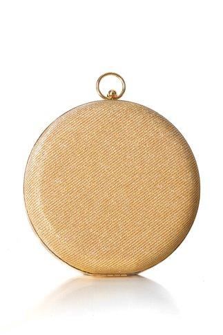 Clutch Sara rotund auriu