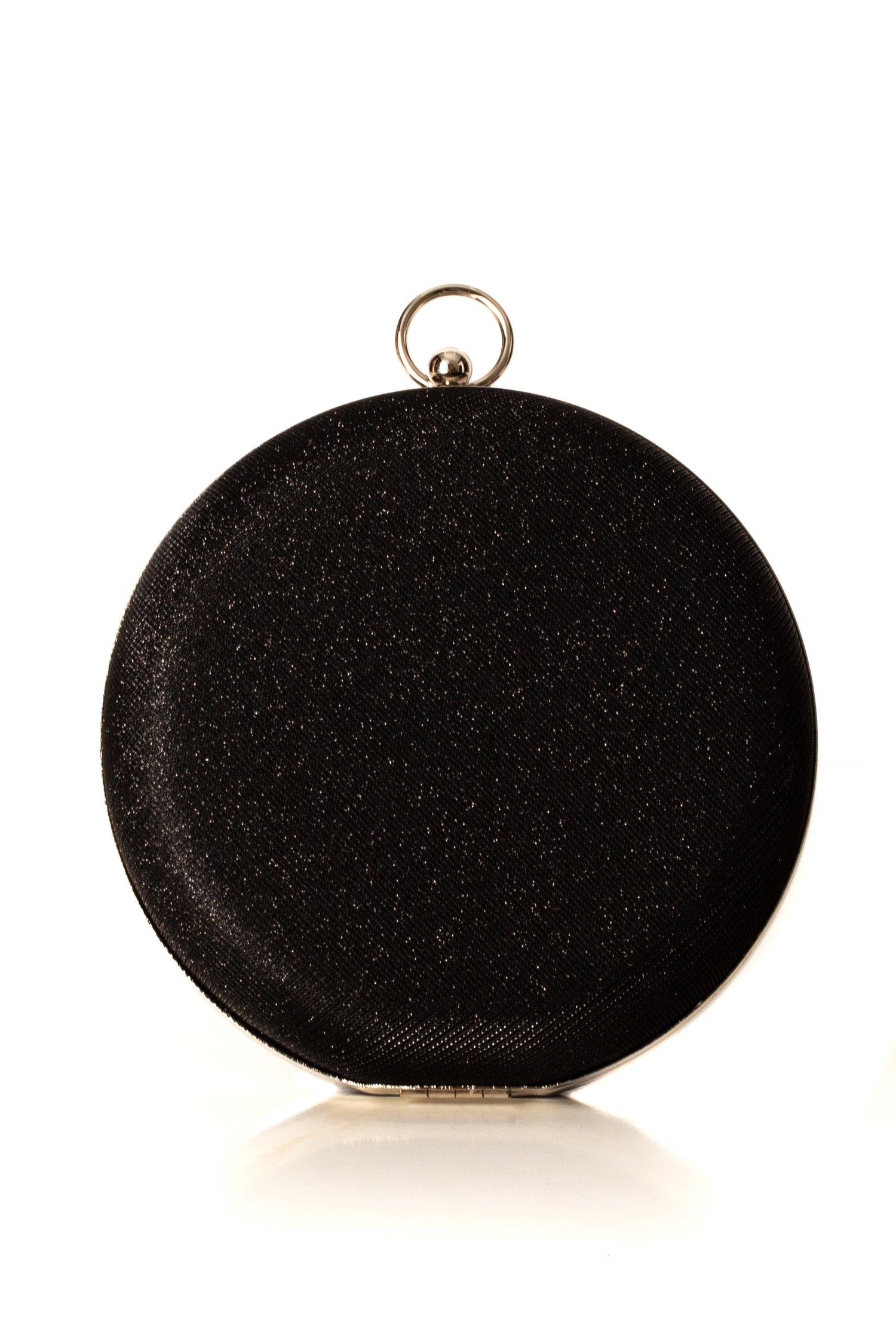 Clutch Sara rotund negru