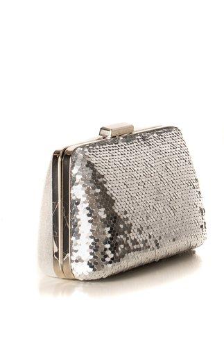 Clutch silver cu paiete reversibile