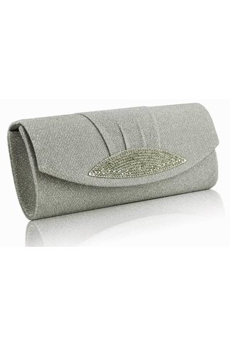 Clutch Sparkle grey