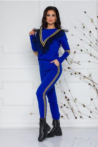 Compleu albastru LaDonna by Catalin Botezatu cu top si pantaloni