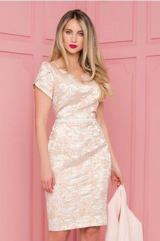 Compleu Dana rose cu rochie din brocard