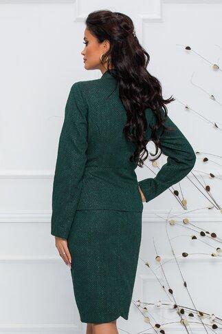 Compleu Enya verde cu sacou si fusta