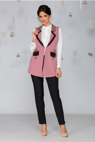 Compleu Flavia roz din 3 piese
