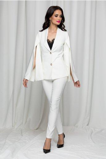 Compleu LaDonna alb din doua piese cu pantaloni