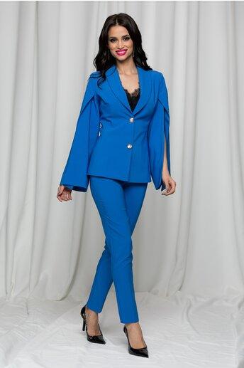 Compleu LaDonna albastru din doua piese cu pantaloni