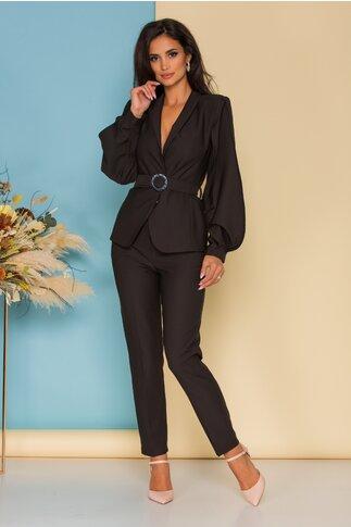 Compleu LaDonna by Catalin Botezatu negru cu sacou si pantaloni
