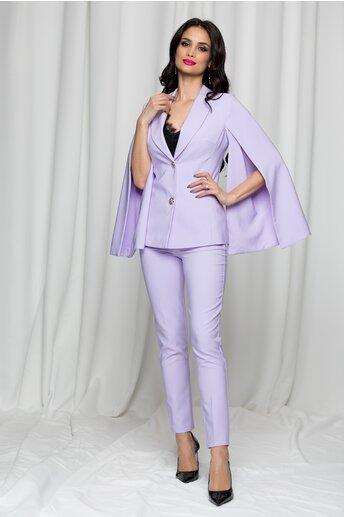 Compleu LaDonna lila din doua piese cu pantaloni