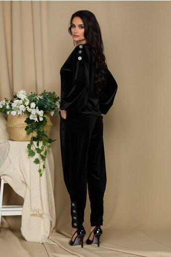 Compleu LaDonna negru cu nasturi decorativi