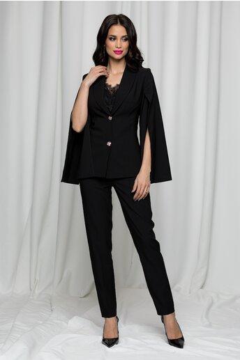 Compleu LaDonna negru din doua piese cu pantaloni