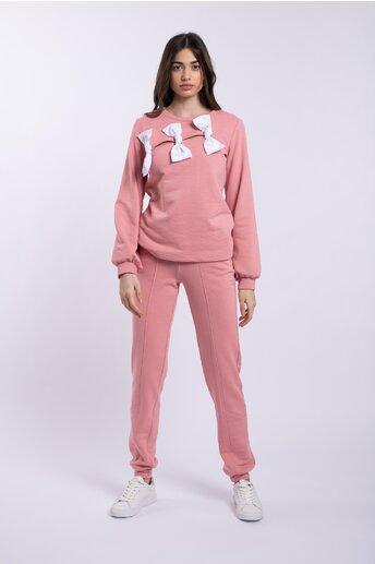 Compleu LaDonna roz accesorizat cu fundite