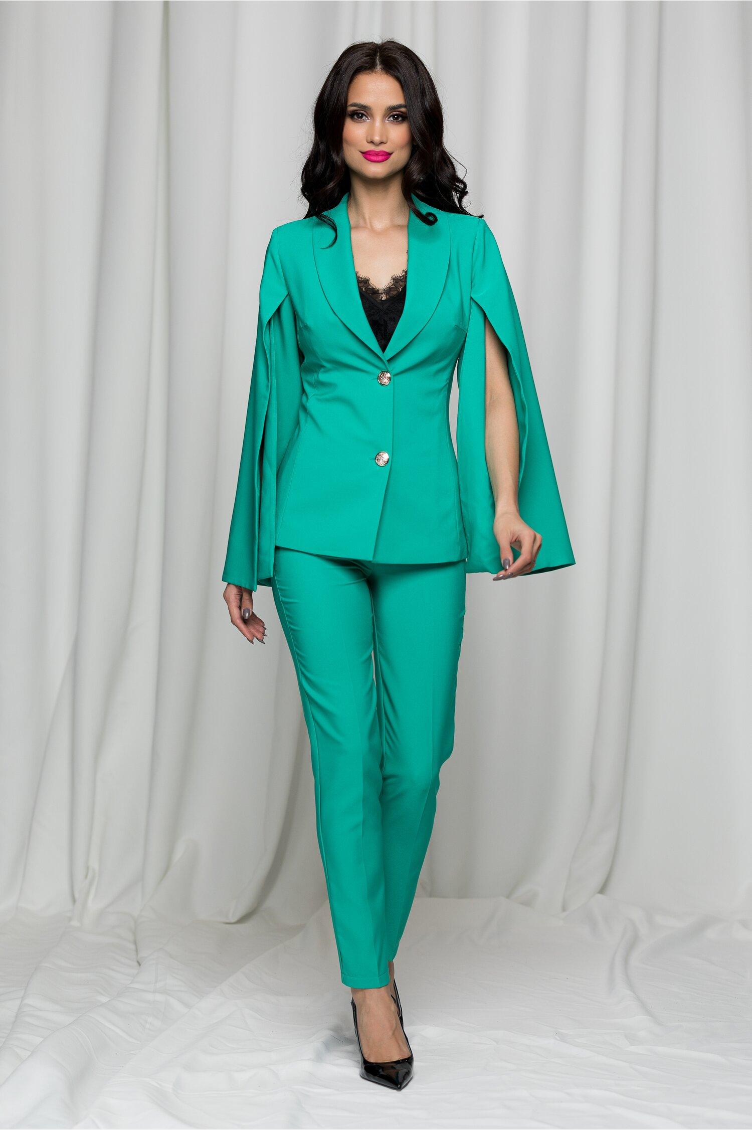 Compleu LaDonna verde din doua piese cu pantaloni