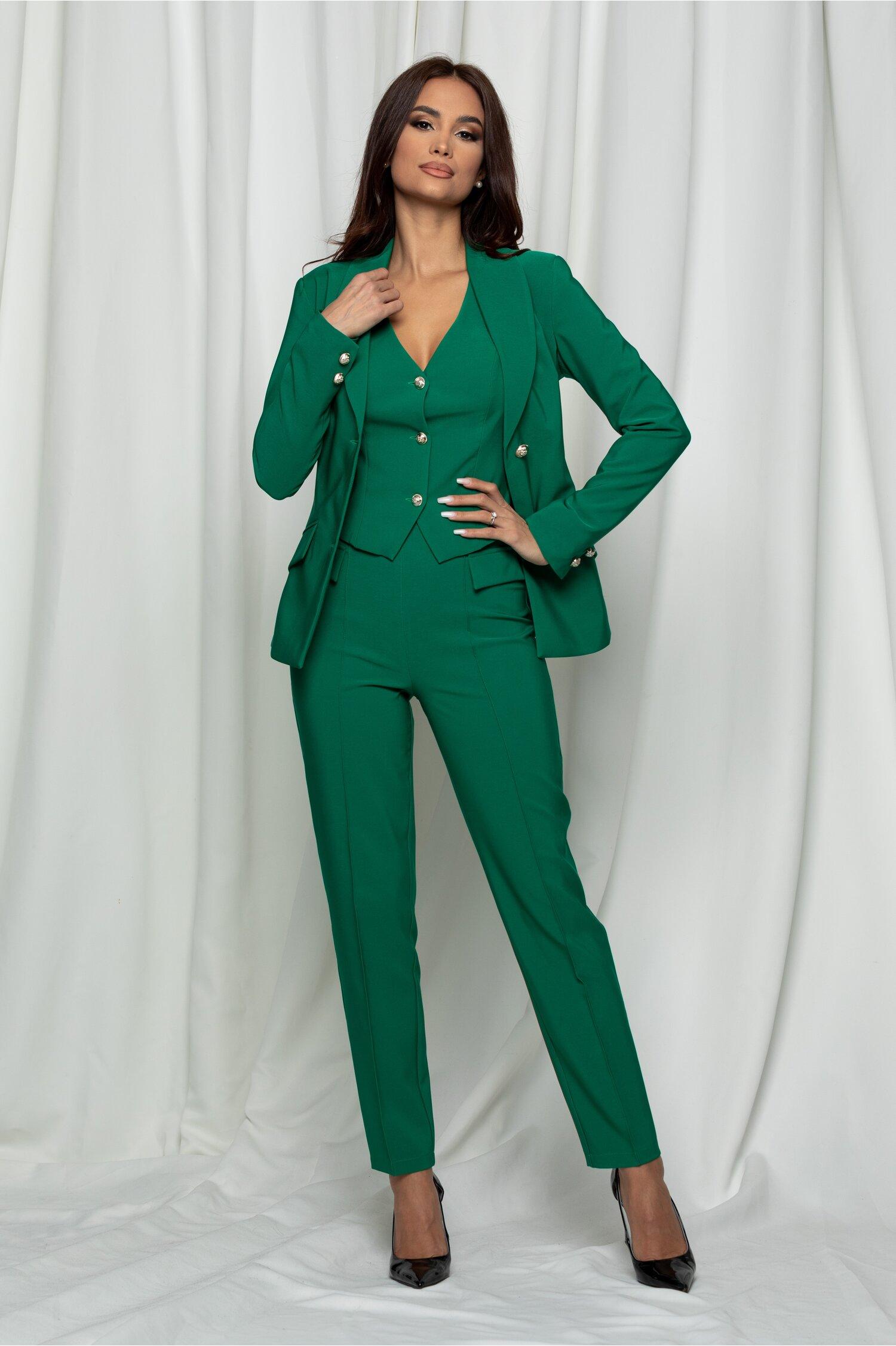 Compleu LaDonna verde din trei piese