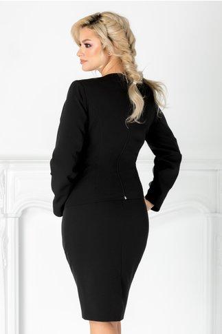 Compleu Leonard Collection negru cu fusta si sacou